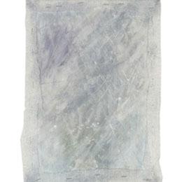 Snow Storm, acrylic paint on cotton hessian, framed with polyethylene foam, 30cm*20cm