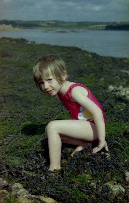 Alix on the pebble beach in Kerzafloc'h, Marie-Claire Raoul