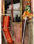 Aquarelle, Terrasse de St Brévin, août 1982