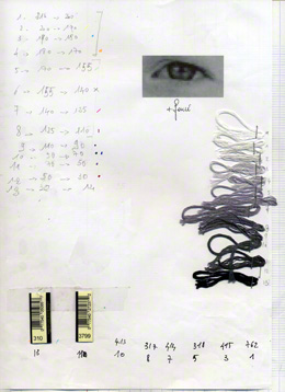 Preparation form for the tapestry [Alix in Kerzafloc'h, full-face, July 2000]