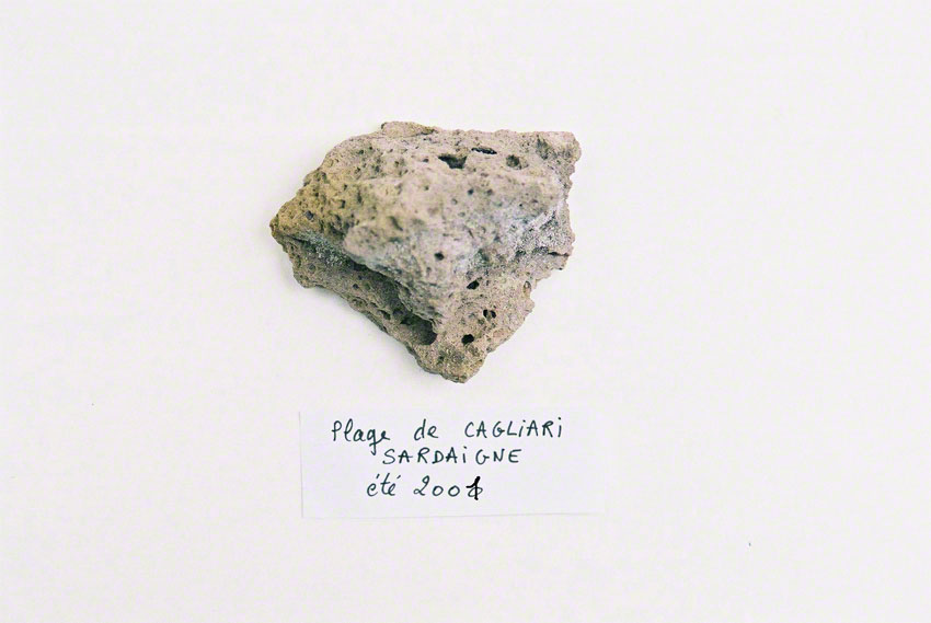 Rock Alix picked up on the beach of Cagliari in July 2001, Marie-Claire Raoul