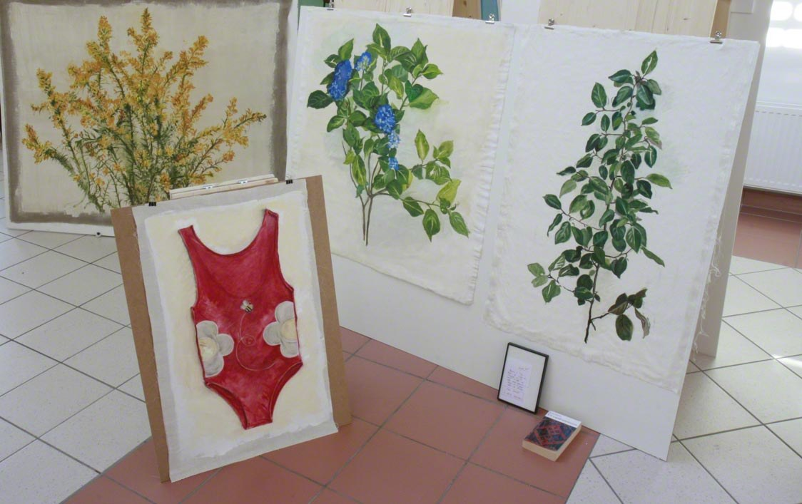 View of the exhibition [The American Bathing Suit], Milizac, February 2011, Marie-Claire Raoul