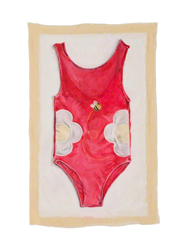 The American Bathing Suit, acrylic paint on linen