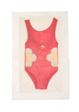 The American Bathing Suit transferred on hessian, try 5