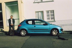 Franck and the Peugeot 206, rue Paul Fort in Brest, view 2