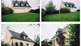 La maison de Kerzafloc'h, montage de 4 photographies