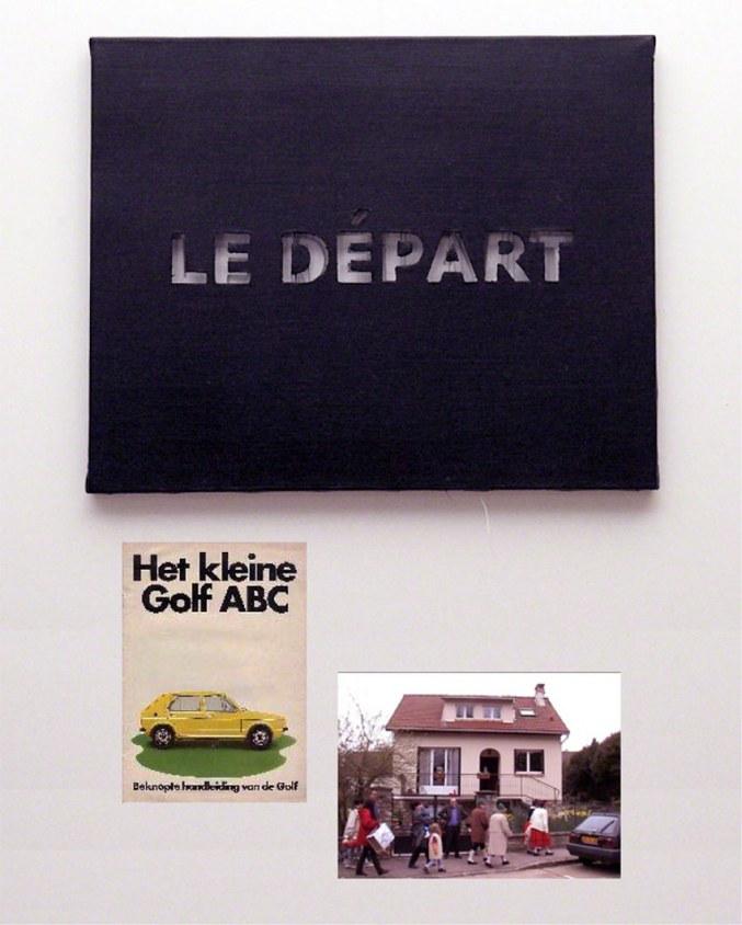 Le départ, image voiture Golf Volswagen, capture vidéo Saint Jean, Marie-Claire Raoul
