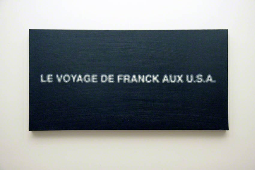 [Franck's trip to U.S.A.], acrylic on wood, Marie-Claire Raoul