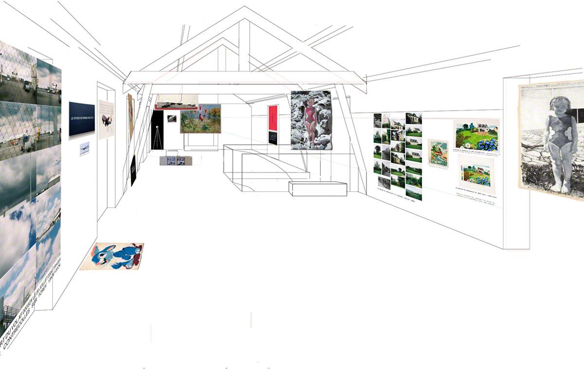 Maison de la Fontaine, Brest, proposition for arranging the space, 2nd floor, view 4, Marie-Claire Raoul