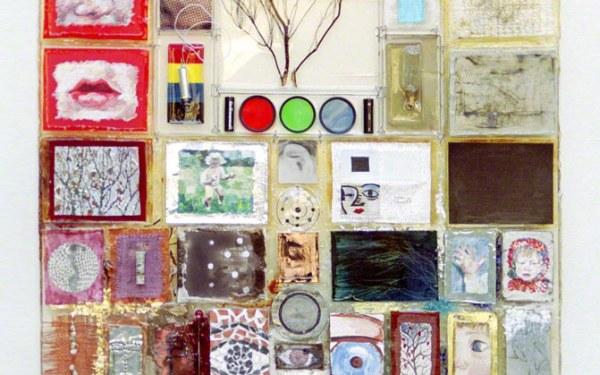 Elles entendent, matériaux et techniques mixtes, Assemblages par résine ou fil de fer, 90cm*70cm, juin 2003, Marie-Claire Raoul