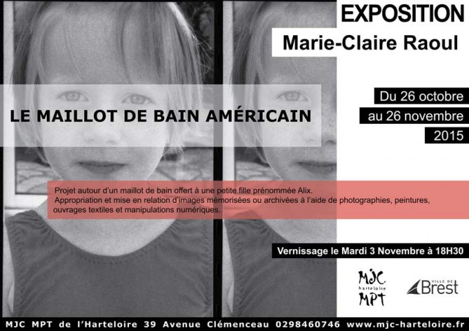 Exposition du 26 octobre au 26 novembre à la MPT MJC de l'Harteloire à Brest