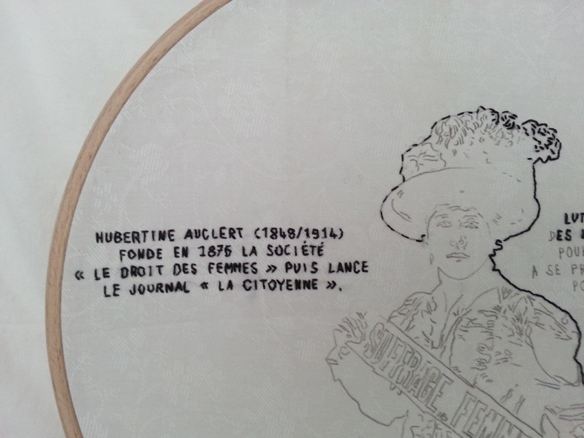 Atelier Femme à histoire, histoires de femmes, espace Lcause, Hubertine Auclert, militante féministe
