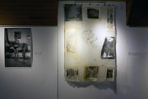 Vue de l'exposition [lcause s'expose], jeux et fragments, Maison de la Fontaine, Brest, novembre 2015 à janvier 2016