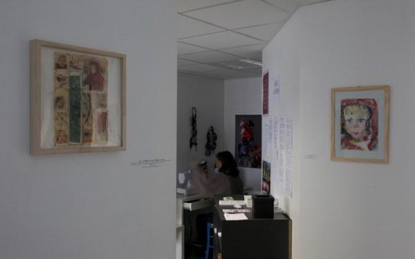 Vue de l'exposition [lcause s'expose], Maison Pour Toutes L'cause, Brest, novembre 2015 à janvier 2016, Marie-Claire Raoul