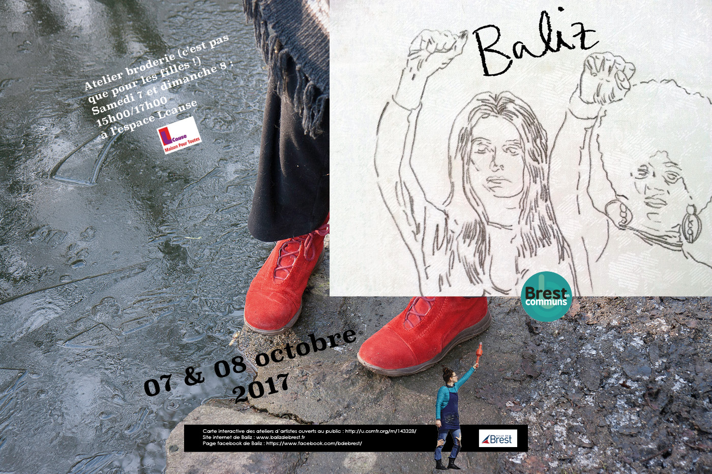 Affiche pour les portes ouvertes des ateliers d'artistes 2017 de Marie-Claire Raoul
