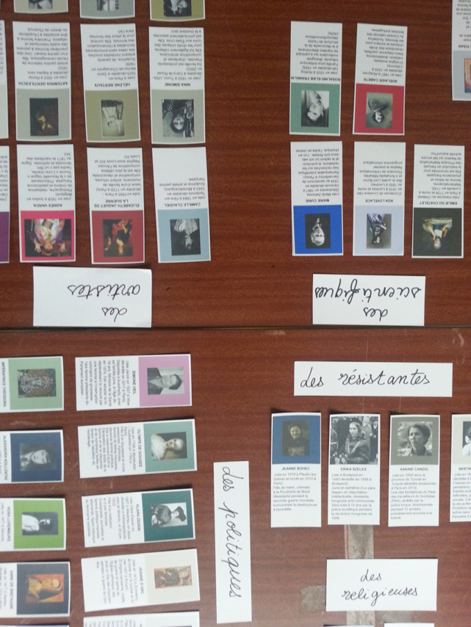 Atelier #3 Paroles et images de femmes, 27 janvier 2018, lexique femmes, Marie-Claire Raoul, Local de la Pointe, Brest