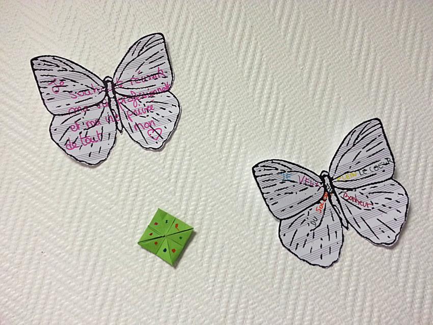 Atelier #2 Paroles et images de femmes, 27 janvier 2018, salières de Laënig et papillons rêvent en papier,Marie-Claire Raoul, Local de la Pointe, Brest