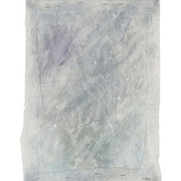 Snow Storm, acrylic paint on cotton hessian, framed with polyethylene foam, 30cm*20cm