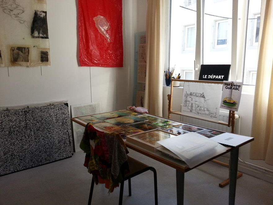 Atelier de Marie-Claire Raoul à l'espace L'cause à Brest