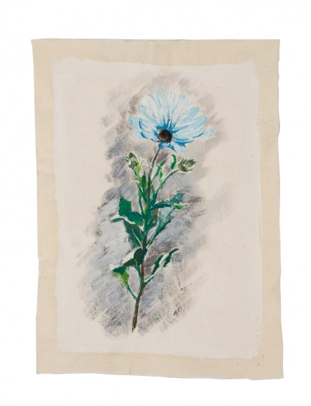 Osteospermum, acrylic paint on cotton, Brest, 14th June 2005, Marie-Claire Raoul