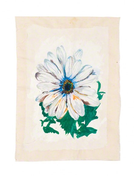 Osteospermum, acrylic paint on cotton, 14th June 2005, Marie-Claire Raoul