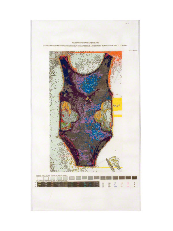 The American Bathing Suit tapestry with 16 colours, Marie-Claire Raoul