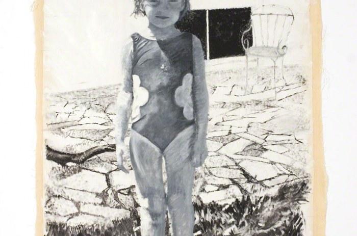 Alix devant la maison de Kerzafloc'h. 07/00, peinture, huile sur toile