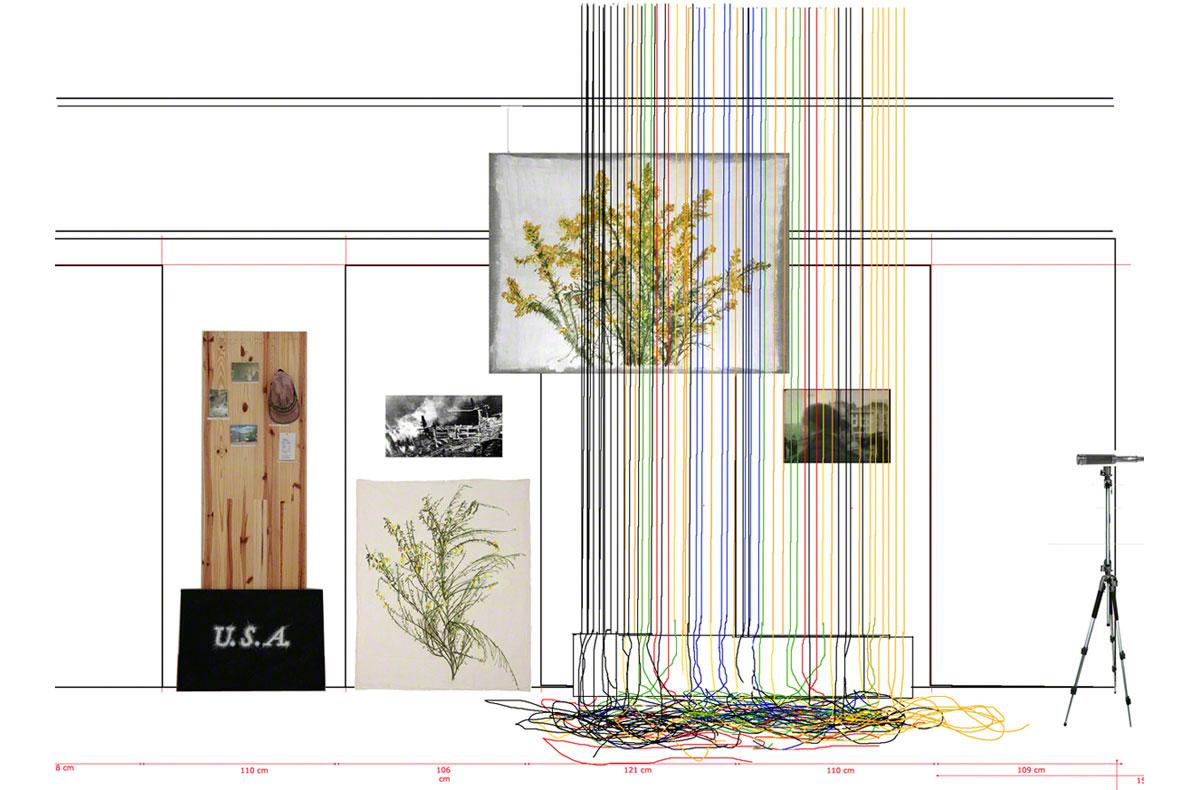 Maison de la Fontaine, Proposition de mise en espace , Brest, Installations [U.S.A.] et [Never Made it back], vue 5, Marie-Claire Raoul