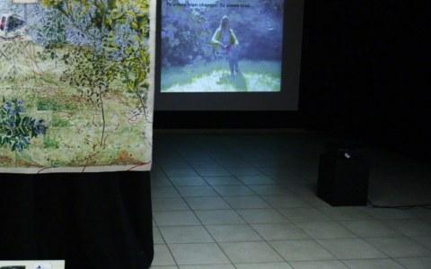 Projection vidéo [Entretien avec Alix], PLM Pilier Rouge