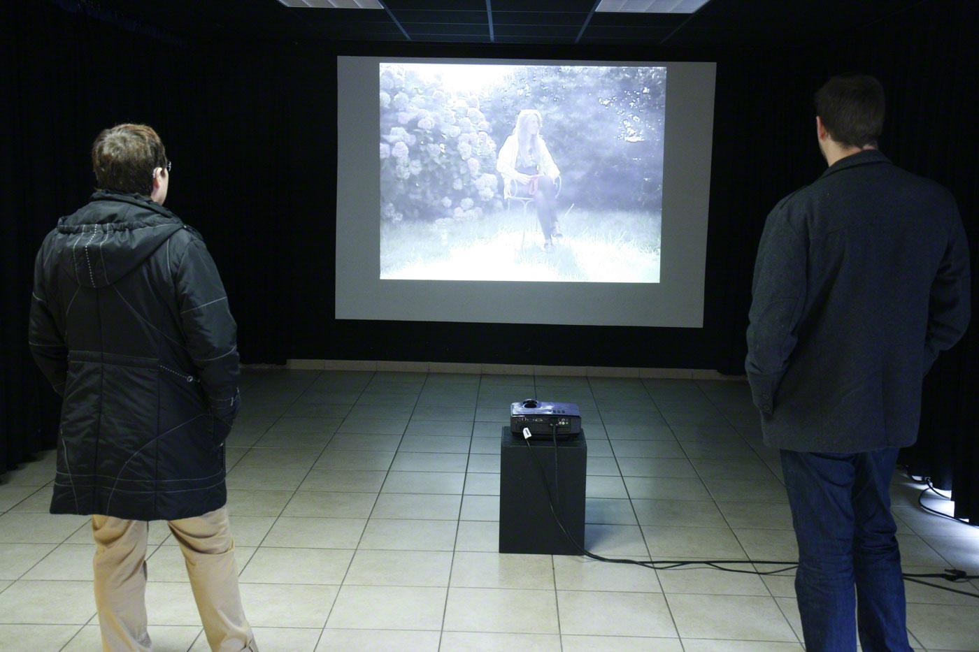 Projection vidéo, entretien avec Alix, PLM Pilier Rouge, octobre 2012