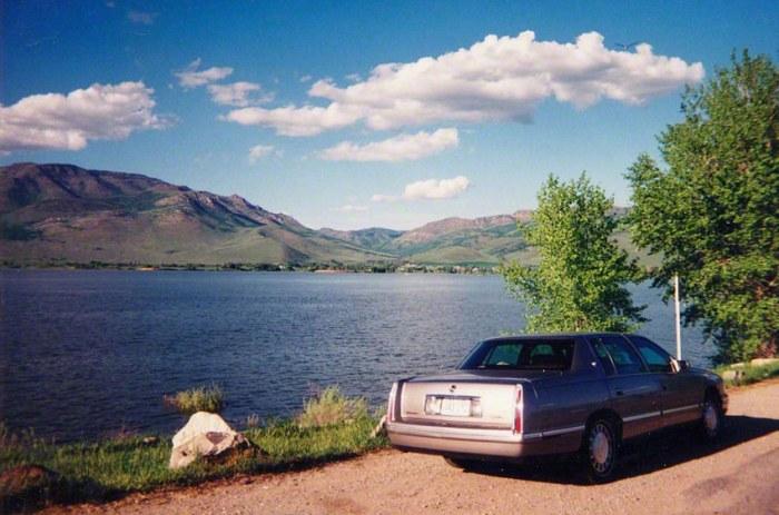 Great salt lake (Utah-U.S.A), sur la route de Salt Lake city vers Ogden, © Franck Lebaudy