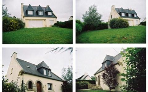 La maison de Kerzafloc'h, montage de 4 photographies, Marie-Claire Raoul
