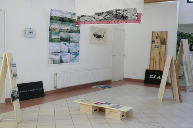 [NEVER MADE IT BACK] view of the exhibition, Milizac, February 2011, Marie-Claire Raoul