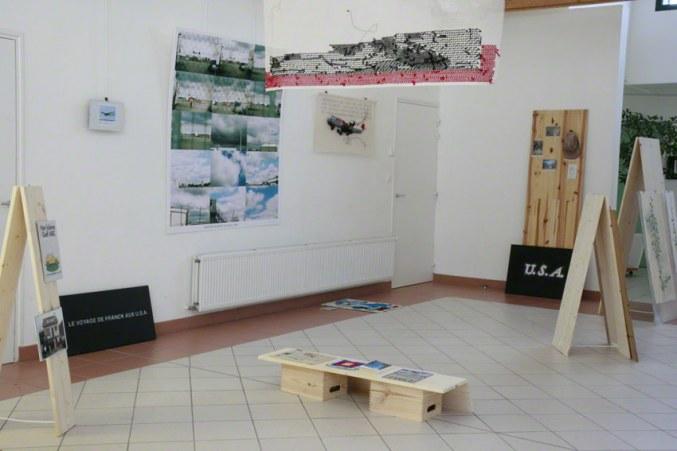 [NEVER MADE IT BACK] vue d'exposition, Milizac, février 2011, Marie-Claire Raoul