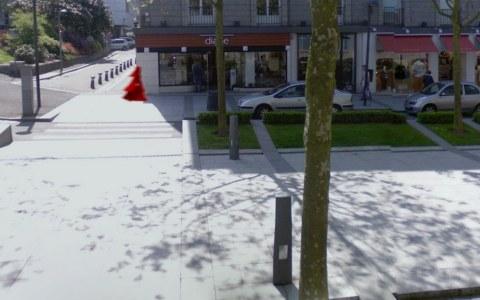 The Girl with the Red Veil/view 2, Place de la Liberté, Brest, Marie-Claire Raoul