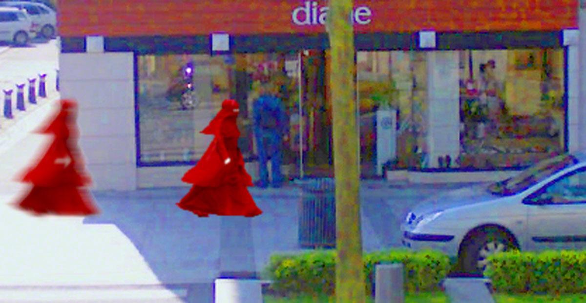 The Girl with the Red Veil/view 3, Place de la liberté, Brest, Marie-Claire Raoul