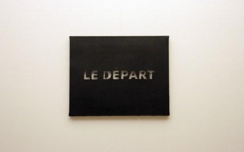 Le départ, techniques mixtes, Marie-Claire Raoul