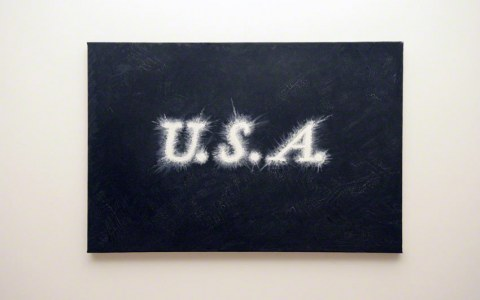 U.S.A., oil on canvas, 75cm*55cm, Marie-Claire Raoul