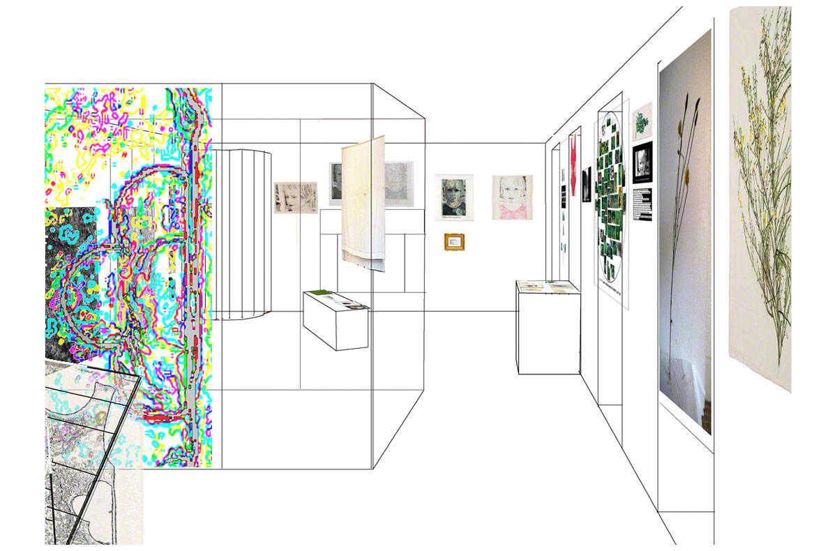 Maison de la Fontaine, Brest, proposition de mise en espace, étage 1, vue 1 rapprochée, Marie-Claire Raoul
