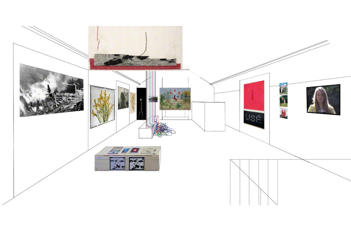 Maison de la Fontaine, Brest, proposition de mise en espace , étage 2, vue 4 rapprochée, Marie-Claire Raoul