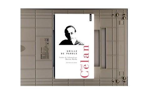 scanner de la page de couverture du recueil Grille de parole, Paul Celan, Marie-Claire Raoul