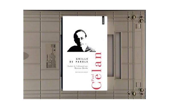 scanner de la page de couverture du recueil Grille de parole, Paul Celan
