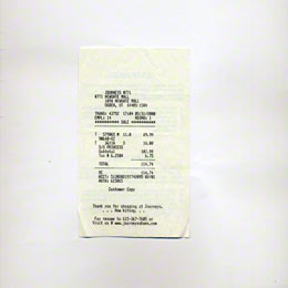 Receipt of the american bathing suit