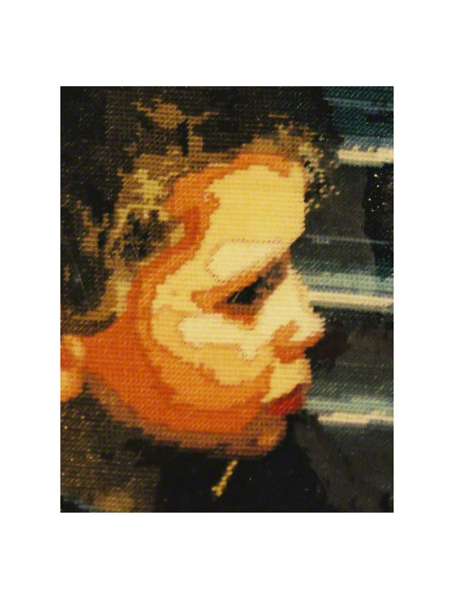 Jérémie est furieux (détail 3 : canevas portrait de jérémie), Marie-Claire Raoul