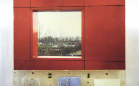 Mon cœur bat toujours aussi fort, peintures, photographies de Jérémie et Alix à Combloux et au parc de La Villette à Paris, petit matériel électronique, assemblage avec résine époxy, Marie-Claire Raoul