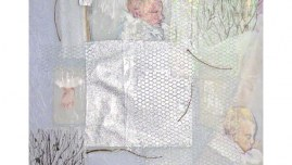 Sommeil, Alix dort profondément, techniques mixtes, 90cm*70cm, février 2003