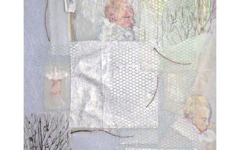 Sommeil, Alix dort profondément, techniques mixtes, 90cm*70cm, février 2003, Marie-Claire Raoul