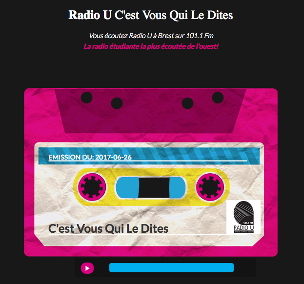 Logo Radio universitaire de Brest Radio U