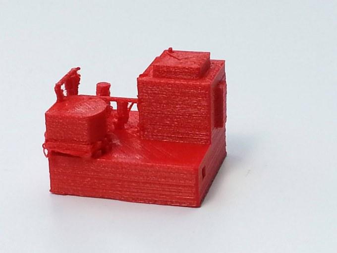 Maison rouge fabriquée au fab lab d'iMal