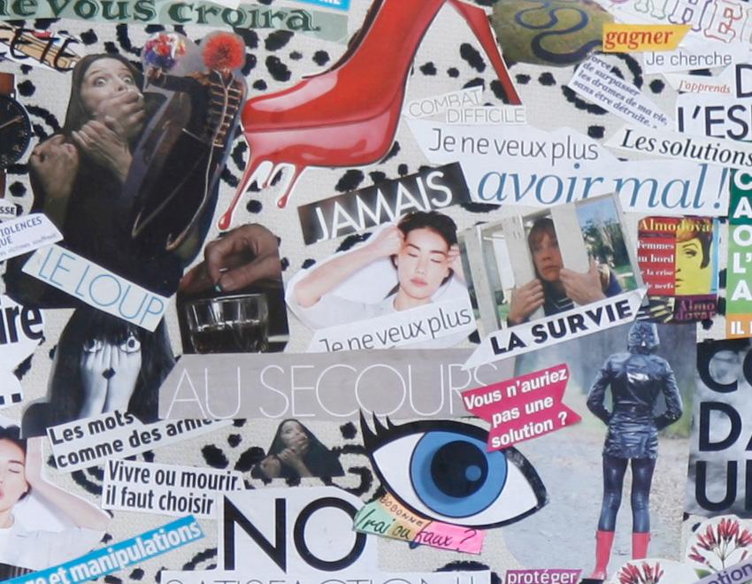 Atelier Femme à histoire, histoires de femmes, espace Lcause, montage photos d'Annette